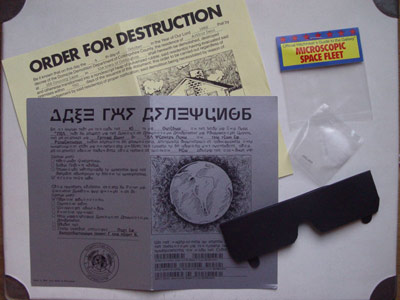 Infocom provided 'feelies' in addition to instructions
