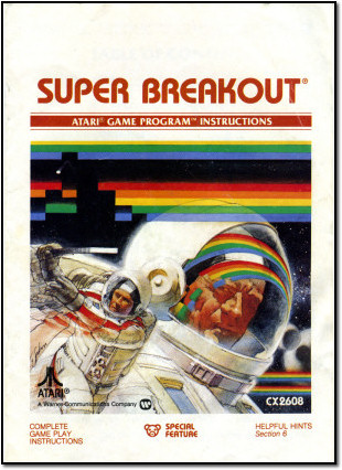 Instruction manual for Breakout on the Atari 2600