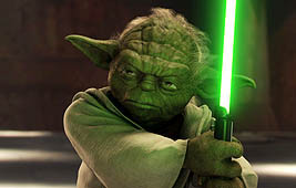 Yoda, voiced by Frank Oz