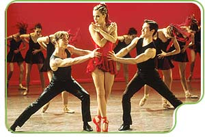 Sascha Radetsky, Amanda Schull, and Ethan Stiefel
