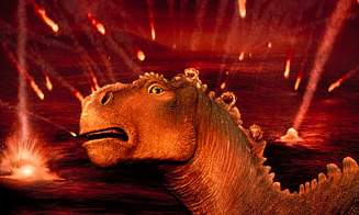 Aladar caught in a meteor shower