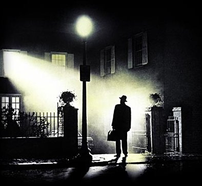 Max von Sydow in the most famous scene of The Exorcist