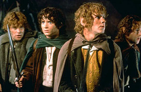 Sean Astin, Wood, Dominic Monaghan, and Billy Boyd