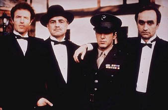 James Caan, Marlon Brando, Al Pacino, and John Cazale