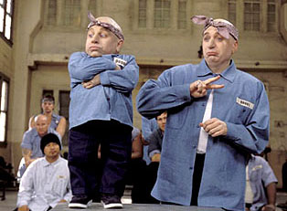 Verne Troyer and Myers