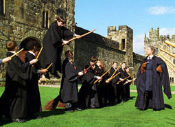 Flying lessons at Hogwarts