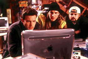 Ben Affleck, Mewes, and Smith