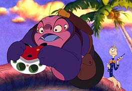 Jumba (David Ogden Stiers) and Pleakley (Kevin McDonald)
