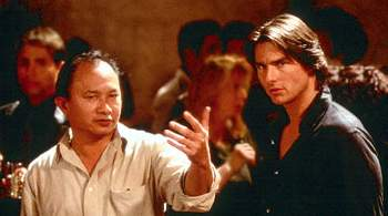 John Woo on the set with Cruise