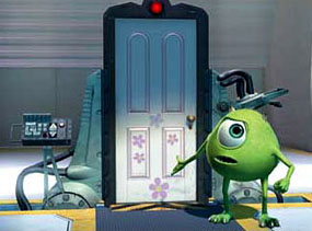 Mike shows Sully the door