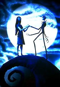 Sally and Jack Skellington