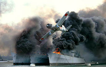 The attack on Pearl Harbor, as realized by Michael Bay