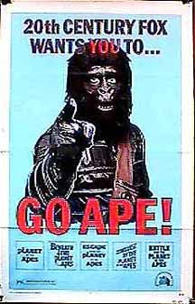 The original poster for Planet of the Apes