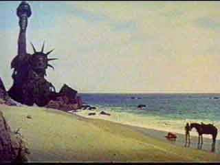 The climactic and sobering finale of the Planet of the Apes