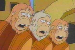 Planet of the Apes, the musical, as seen on The Simpsons