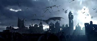 Dragons rule the skies over London