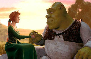 Princess Fiona (Cameron Diaz) and Shrek (Mike Myers)
