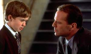 Haley Joel Osment and Bruce Willis