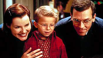 Geena Davis, Jonathan Lipnicki, and Hugh Laurie