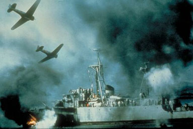 The Japanese attack on Pearl Harbor, as envisioned by Tora! Tora! Tora!