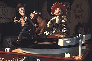 Woody meets up with Bullseye and Jessie (Joan Cusack)