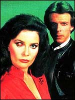 Jane Badler and Marc Singer