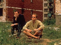 Stephen Dillane and Woody Harrelson