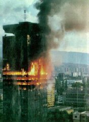 Sarajevo at the beginning of the Bosnian War